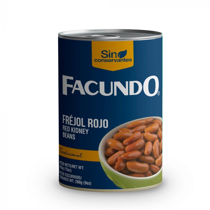 FEIJAO VERMELHO FACUNDO 425 gr