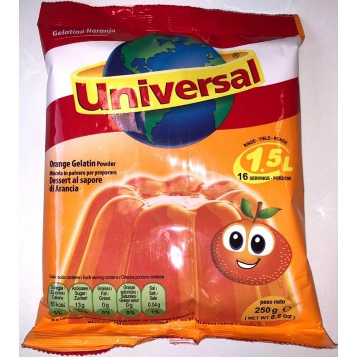 GELATINA NARANJA UNIVERSAL 250 gr