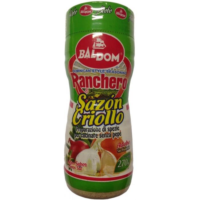 SAZON CRIOLLO RANCHERO SIN PIMIENTA BALDOM 270 gr