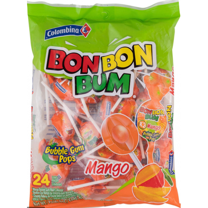 BON BON BUM MANGO COLOMBINA 408 gr