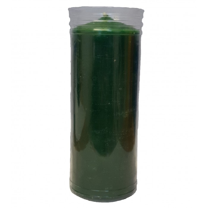 CANDLE GREEN 14x5.5 cm
